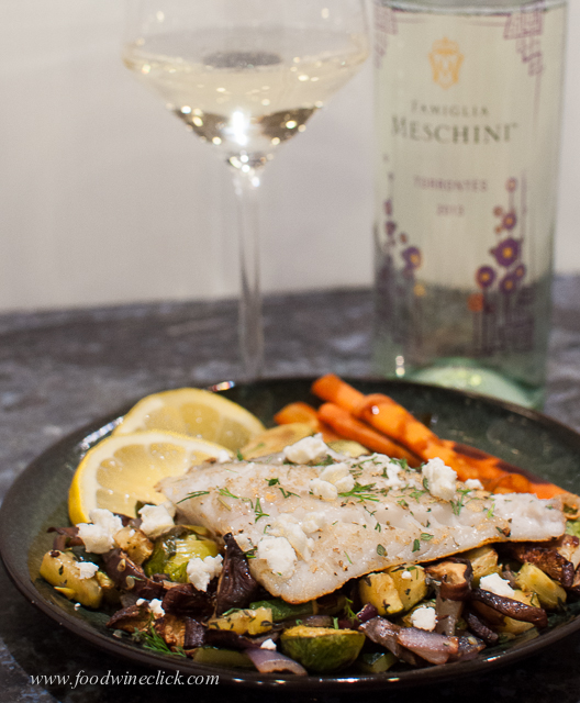 Fish on roasted veggies - a healthy Friday dinner choice