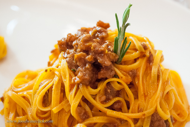 Tajarin pasta, also a favorite primi.