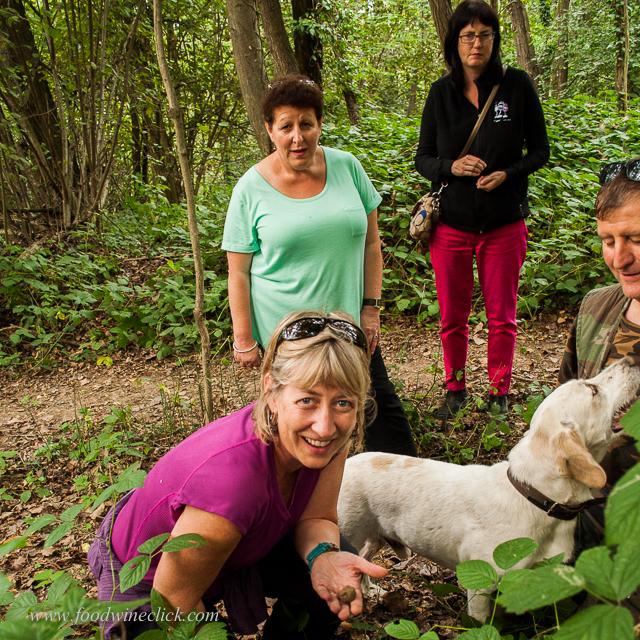 A successful truffle hunt.