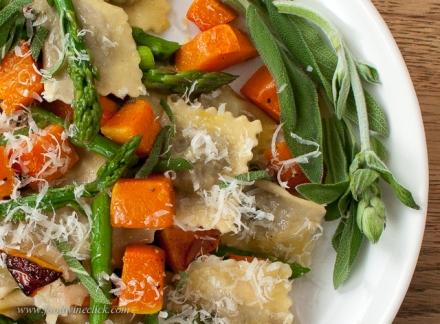 Fresh pasta plus tastes of both winter and spring