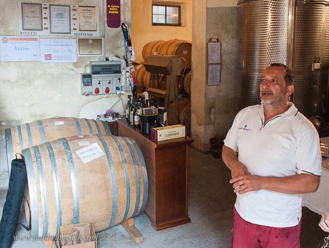 Massimo's winery is at his home.
