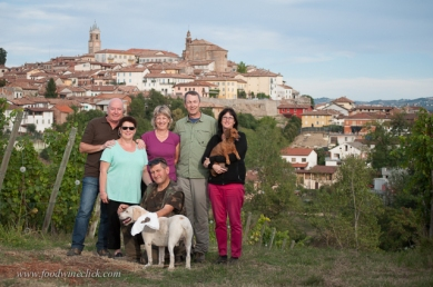 Recognize the town behind our group?
