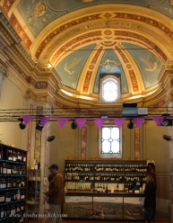 The Enoteca is in a beautifully preserved priori.