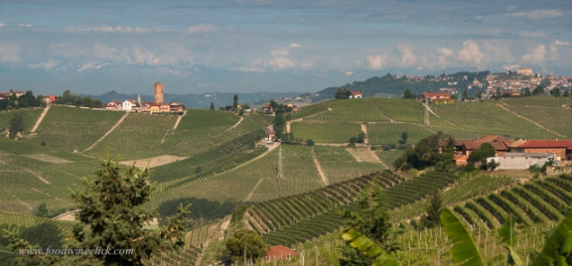 Our destination: Barbaresco (tower on the left)