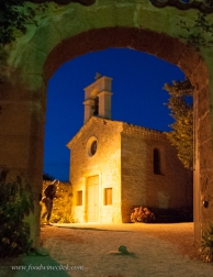 Exploring a quiet Provencal town at night