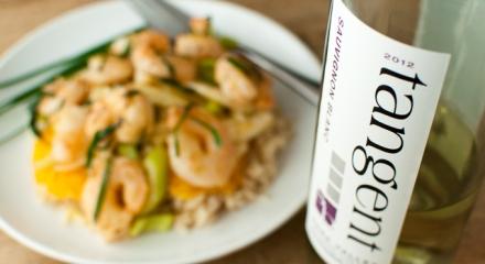 tangent sauvignon blanc shrimp with fresh citrus sauce