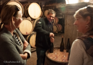 Pulling corks with Jean-Louis and Erin Chave