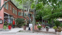 Hotel Florets is just outside Gigondas. On a nice day, lunch on the patio would be lovely.