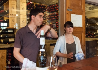 Pierre and Melanie hosted us at the tasting room. Both are enology school graduates.