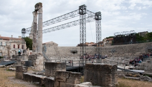 The Roman Theatre at Arles was a massive structure. Even the ruins are huge.