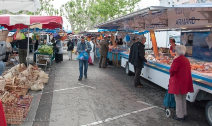 Food, housewares and local residents shopping.