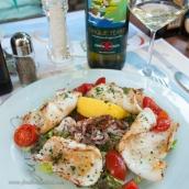Fresh squid salad at the beach