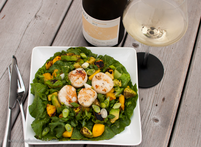 Tart lemon flavors in the wine are a perfect foil for this salad
