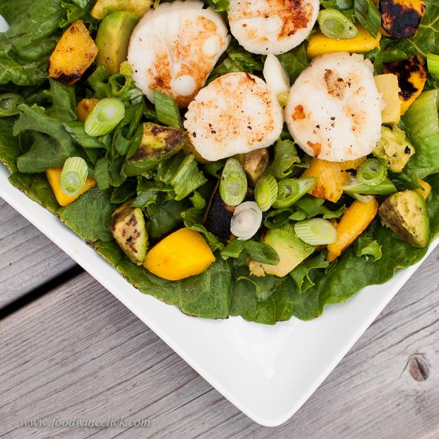 Scallop salad text