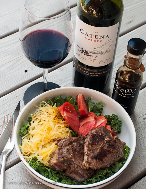 Bold and ripe, the Catena Malbec was very nice with a bold lunch salad.