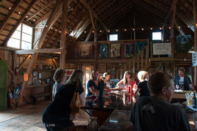 The tasting room is in part of the old barn, rustic but nice!