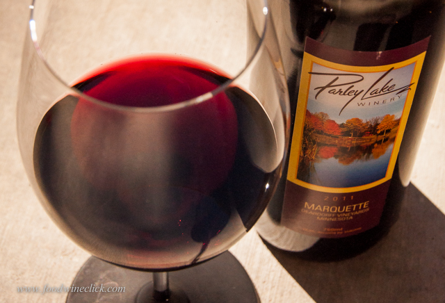 Wine from the Marquette grape, specifically bred for harsh Minnesota winters