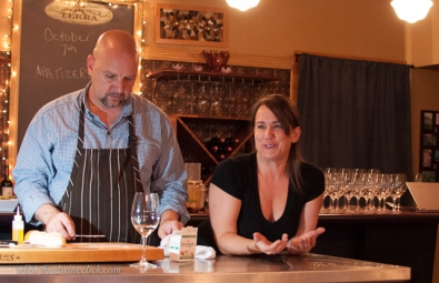 Tracy LeTourneau introduced the way they pair wines with food.