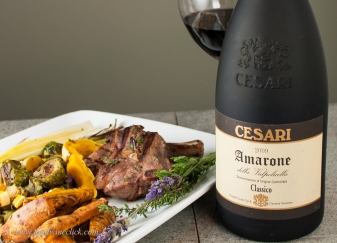 Amarone was wonderful with lamb in a different way from my usual pairing choice