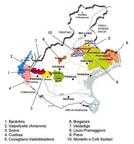Wine Zones of the Veneto