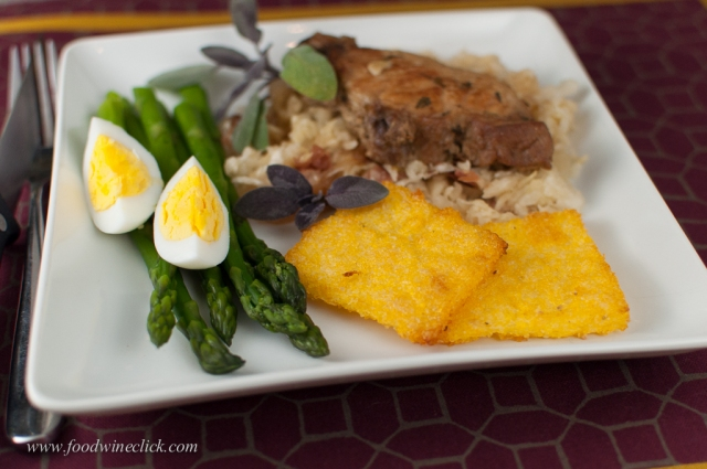 Costine di Maiale con Crauti e Polenta (Pork Ribs w/ Sauerkraut & Polenta)