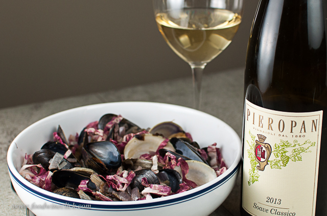 The Pieropan Soave Classico was just a bit better with the radicchio & clams