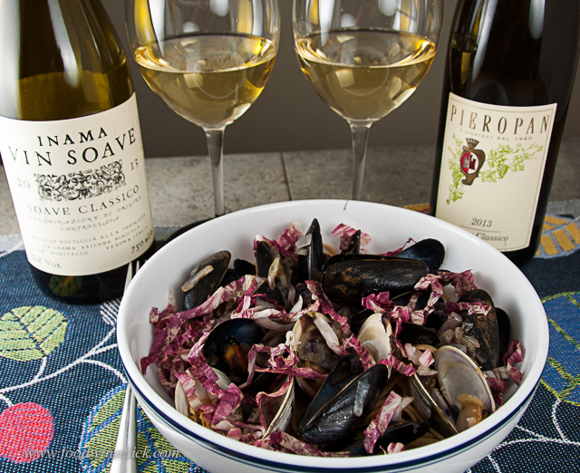 Slightly bitter flavors in the food pair beautifully with Soave
