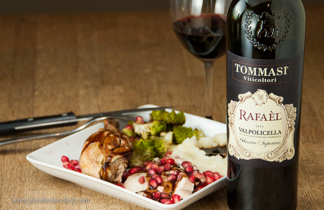 The Valpolicella was the clear winner and a perfect match