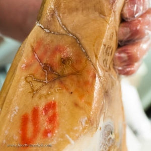 Prosciutto di Parma: look for the crown branded into the ham!