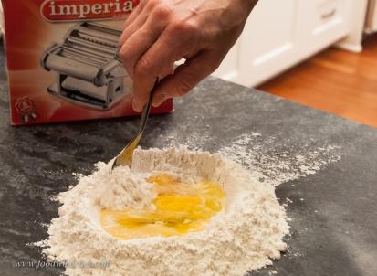Eggs & flour. Period.