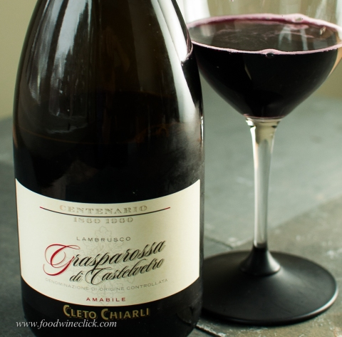 Lambrusco Amabile adds a touch of sweetness