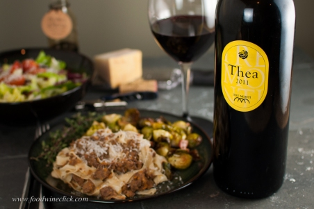 The deeply flavored wine was a nice pairing with the rich meat sauce