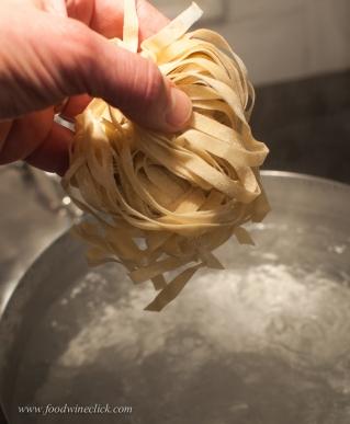 Fresh pasta cooks quickly, 2 minutes max!