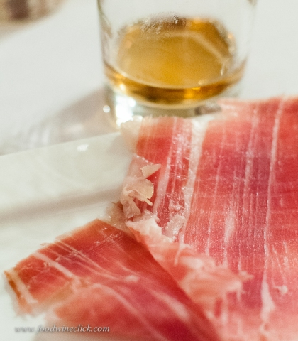 Curve ball! 100% local product, ark of taste pig, 26 months aged