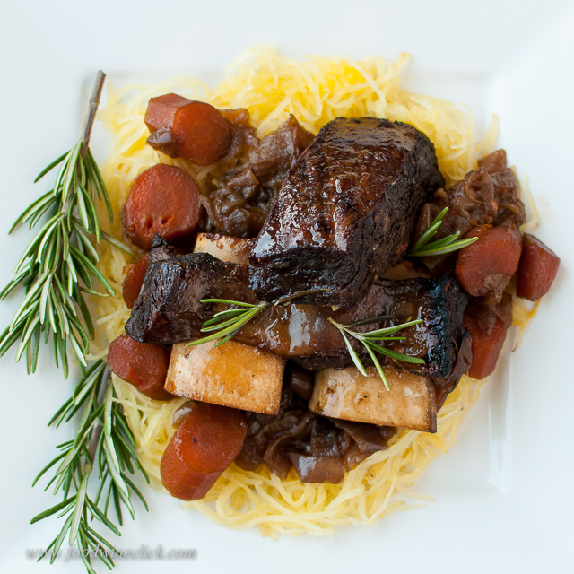 Meaty beer braised short ribs