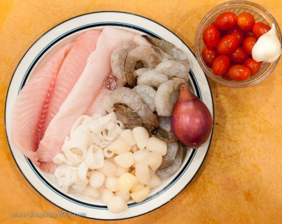Start with your seafood and other fresh ingredients. Variety and fresh are key