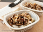 Top the cheese generously with the mushroom mixture