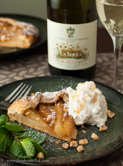 The wine pairs perfectly with the flavors in the dessert, it should!