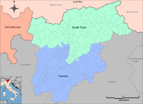 Map courtesy of http://en.wikipedia.org/wiki/Trentino-Alto_Adige/S%C3%BCdtirol
