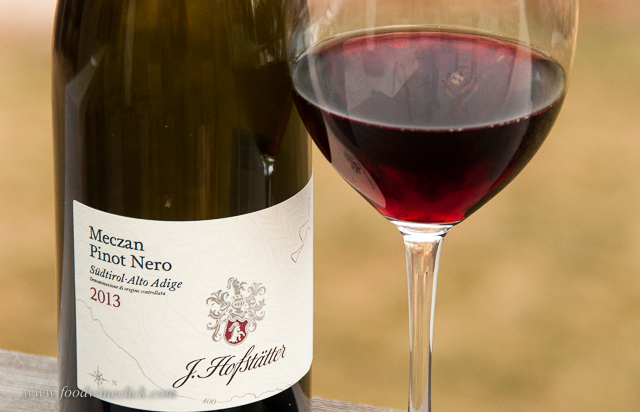 Lean and trim, this Pinot Nero was not aged in oak.