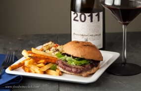 We try lots of regional food, but sometimes you just want a burger. Sicilian wine delivers here, too!