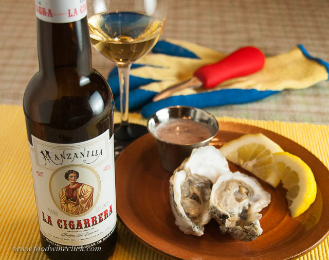Manzanilla sherry offers an unusual flavor, but pairs beautifully with oysters & traditional mignonette