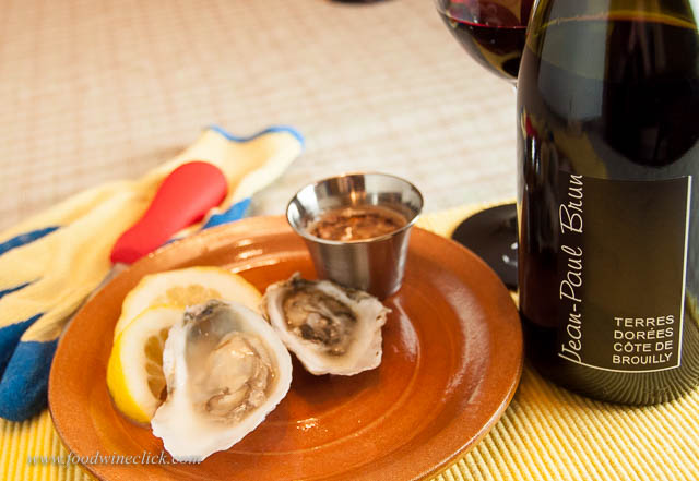 Beaujolais and oysters? Why not?