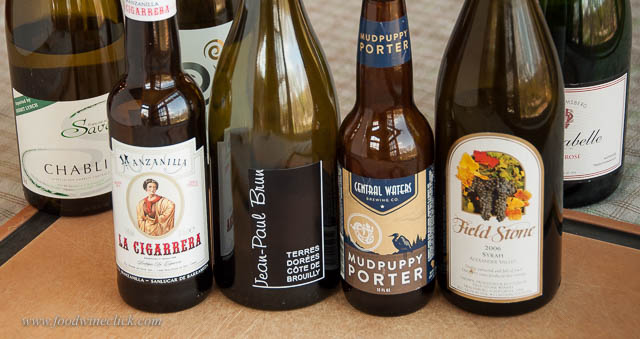 Not your everyday oyster pairings: Manzanilla sherry, Cru Beaujolais, dark beer, and a rich Syrah.
