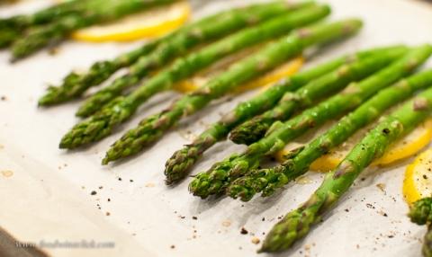 Freshly roasted asparagus, ready to go!