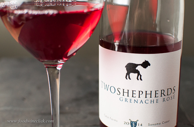 Two Shepherds Grenache rosé is intensely fruity, crisp and bone dry