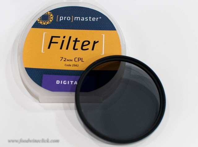 Useful for general photography, a circular polarizing filter is your wine glass secret weapon.