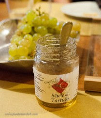 topped with truffle honey...