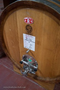 A variety of wooden vessels are used for aging, depending on the grapes.