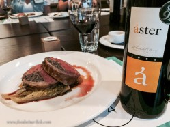 "Lamb is a perfect meat for Ribera. The Aster was a ""Crianza"" wine, meaning it had been aged at least 2 yrs of which 12 months was in oak. This was a more mature wine with a bit more depth, perfect with the lamb."